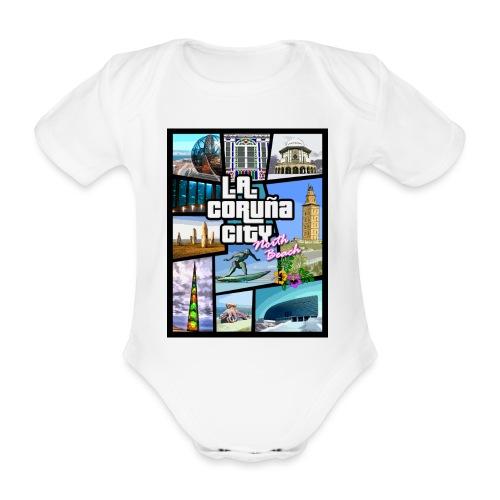 CORUÑA CITY NORTH BEACH - Body orgánico de manga corta para bebé