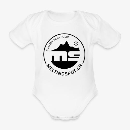 logo MS_noir - Baby Bio-Kurzarm-Body