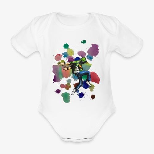 Dancer - Organic Short-sleeved Baby Bodysuit