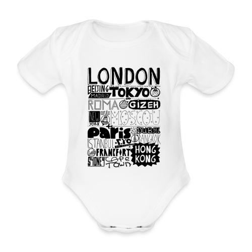 Villes du monde - Body Bébé bio manches courtes