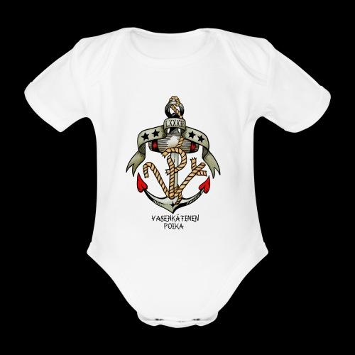 VP Ankkuri Väreillä - Vauvan lyhythihainen luomu-body