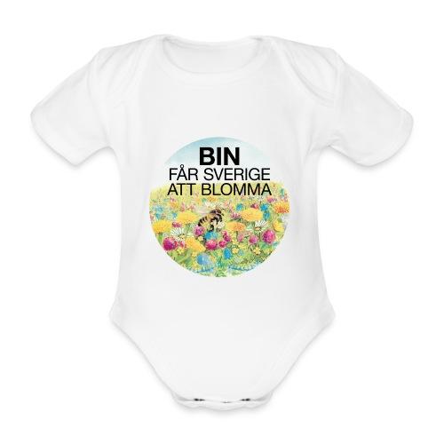 Bin får Sverige att blomma - Ekologisk kortärmad babybody