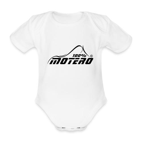 100% Motero - Body orgánico de maga corta para bebé