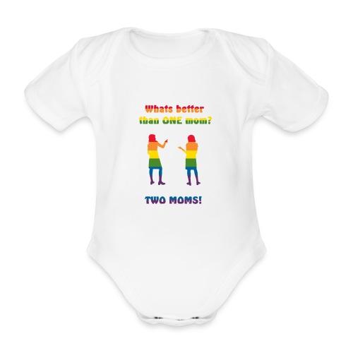 Två mammor - Pride - Ekologisk kortärmad babybody
