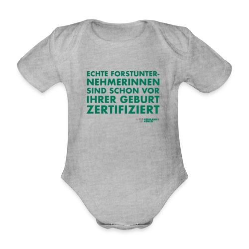 Forstunternehmerinnen   Zertifiziert - Baby Bio-Kurzarm-Body