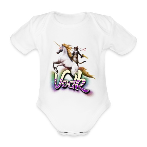 VodK licorne png - Body Bébé bio manches courtes
