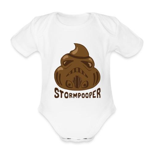 Stormpooper - Organic Short-sleeved Baby Bodysuit