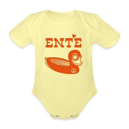 Ente Fridolin - Baby Bio-Kurzarm-Body