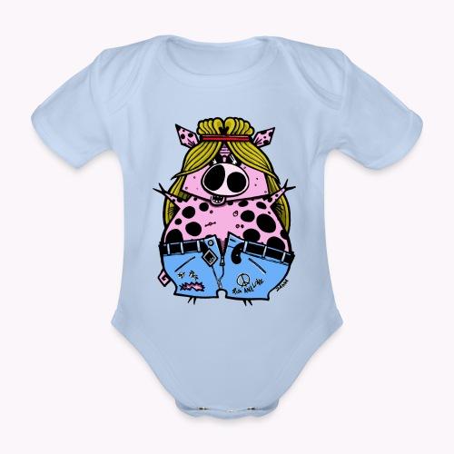 hippig col - Body ecologico per neonato a manica corta
