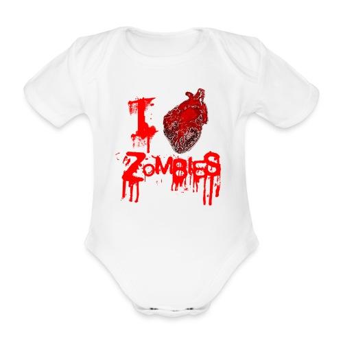 I love zombies - Body orgánico de maga corta para bebé