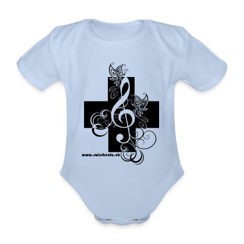 Swiss Beatz Logo non L - Baby Bio-Kurzarm-Body