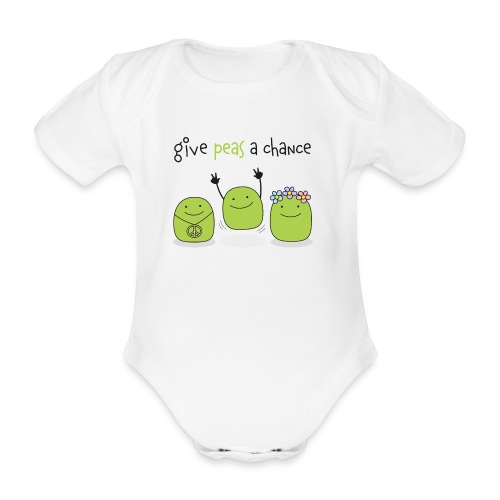 Give peas a chance! - Baby Bio-Kurzarm-Body