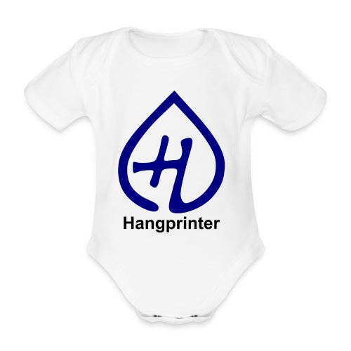 Hangprinter logo and text - Ekologisk kortärmad babybody
