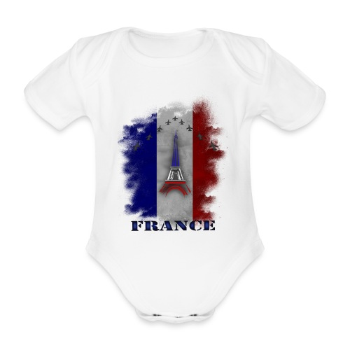 Fandesign Frankreich - Baby Bio-Kurzarm-Body