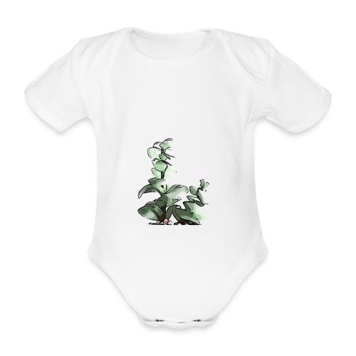 BabyCute 'Cactus Stalk' by Isobel & Kristoff - Organic Short-sleeved Baby Bodysuit