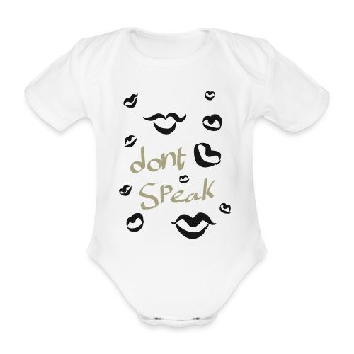 HW dont speak - Kortærmet babybody, økologisk bomuld