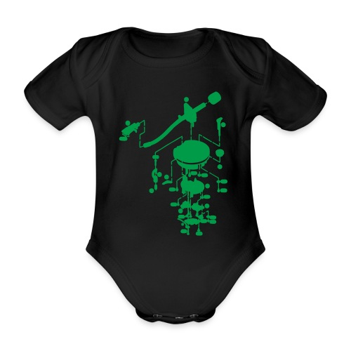 tonearm05 - Baby bio-rompertje met korte mouwen