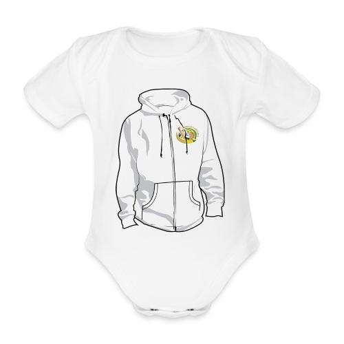 hoodyfront - Baby bio-rompertje met korte mouwen