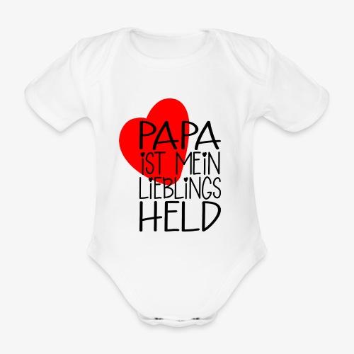 Papa Lieblings Held Geschenk - Baby Bio-Kurzarm-Body