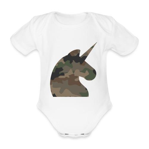Einhorn T Shirt Männer Camouflage Army Style - Baby Bio-Kurzarm-Body