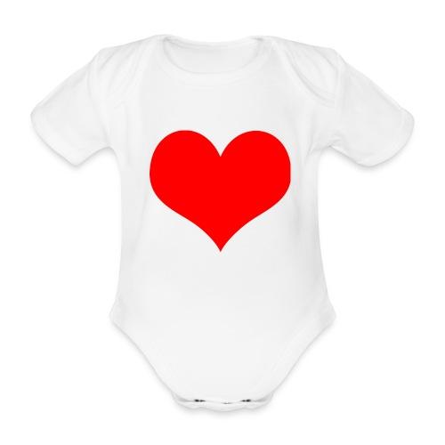 rotes Herz - Baby Bio-Kurzarm-Body