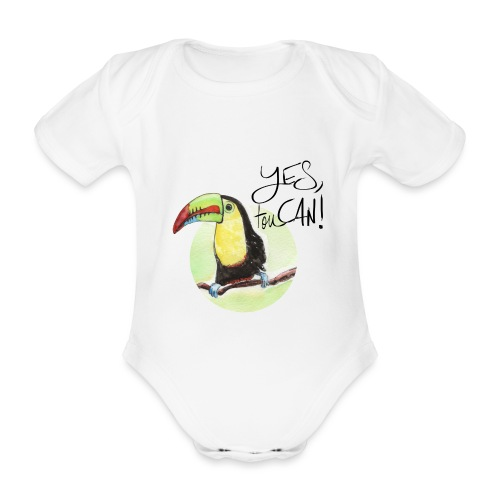 yes, toucan - Baby Bio-Kurzarm-Body