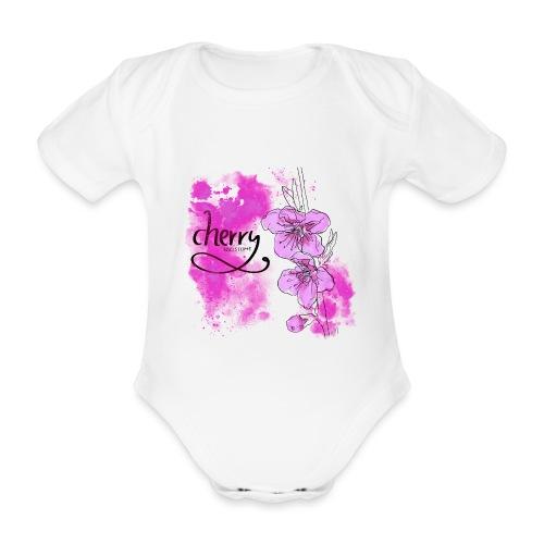 Kirschblüten Zweig - Baby Bio-Kurzarm-Body