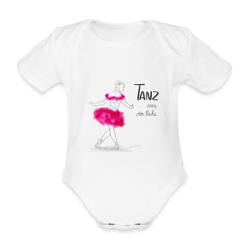 Ballerina mit rosa Tutu - Baby Bio-Kurzarm-Body