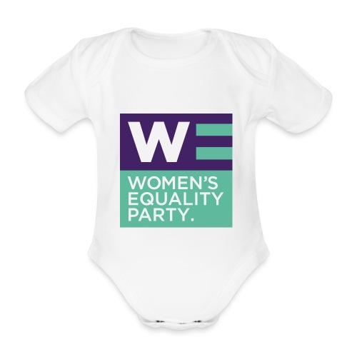 WE Logo - Organic Short-sleeved Baby Bodysuit