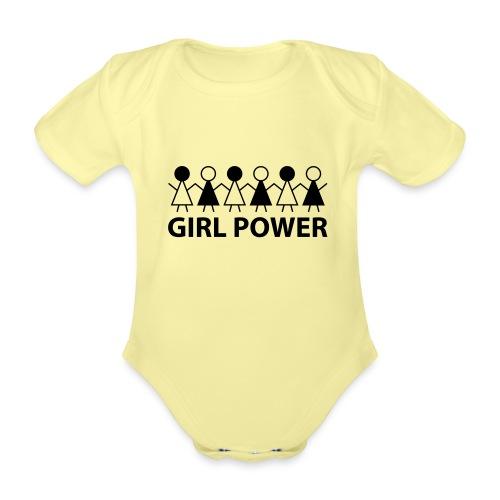 18 - Girl Power 005 - Kortærmet babybody, økologisk bomuld