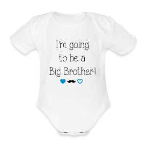 I'm going to be a big brother - Organic Short-sleeved Baby Bodysuit