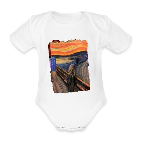 Screaming Tardis - Organic Short-sleeved Baby Bodysuit