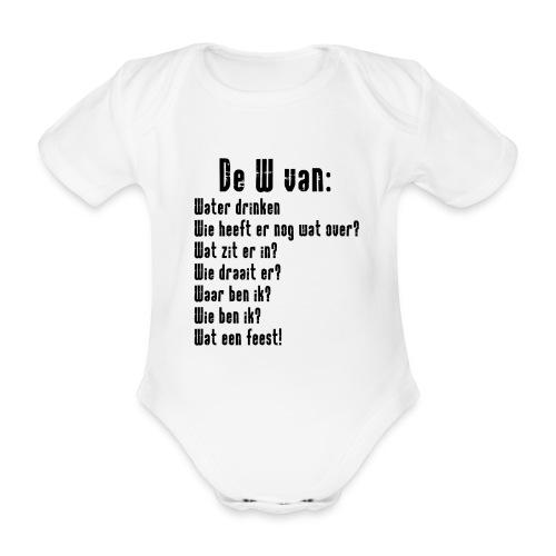 De W van: Ravers Editie - Baby bio-rompertje met korte mouwen