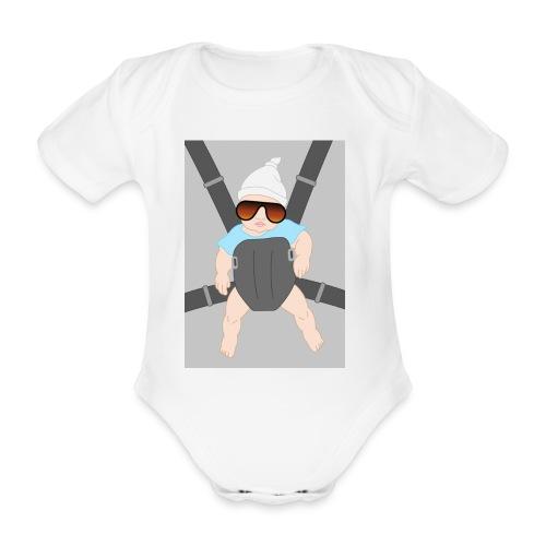 baby rugzak - Baby bio-rompertje met korte mouwen