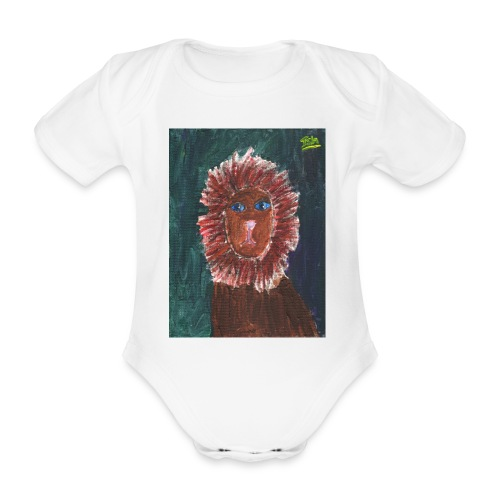 Lion T-Shirt By Isla - Organic Short-sleeved Baby Bodysuit