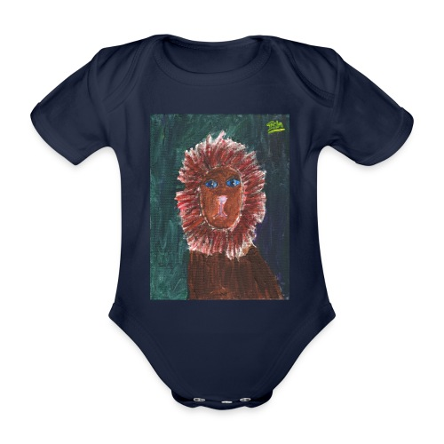 Lion T-Shirt By Isla - Organic Short-sleeved Baby Bodysuit