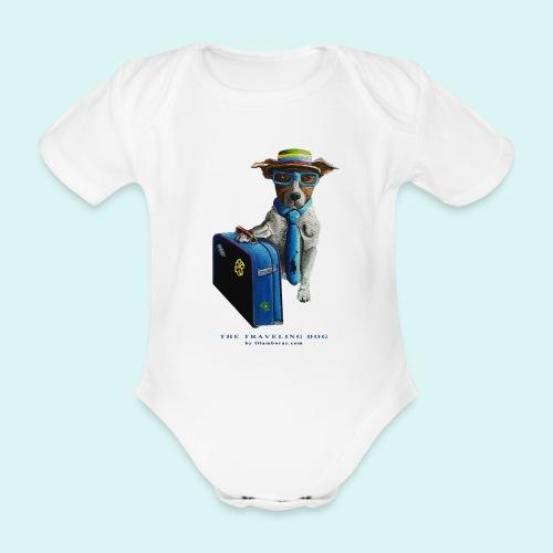 The Traveling Dog - Organic Short-sleeved Baby Bodysuit