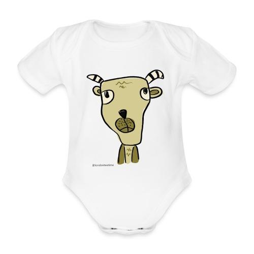 Goat-LTT - Organic Short-sleeved Baby Bodysuit