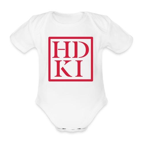 HDKI logo - Organic Short-sleeved Baby Bodysuit