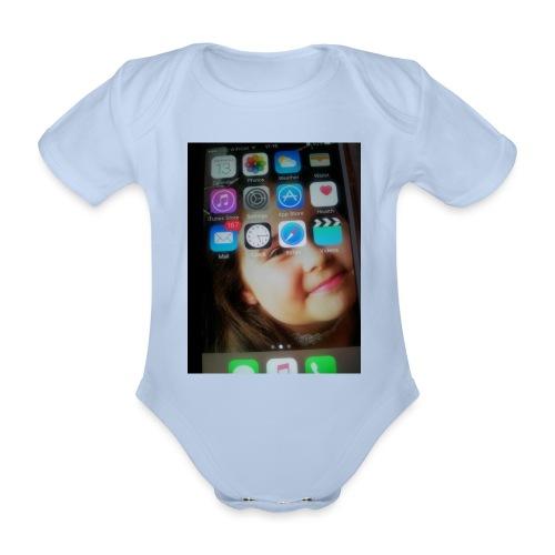 IMG 0975 - Organic Short-sleeved Baby Bodysuit