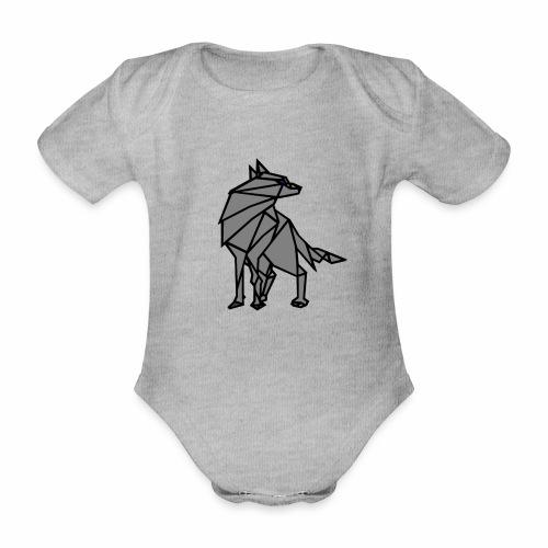 loup geometrique - Body Bébé bio manches courtes