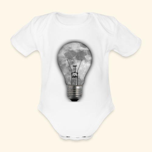 moon bulb - Body orgánico de manga corta para bebé