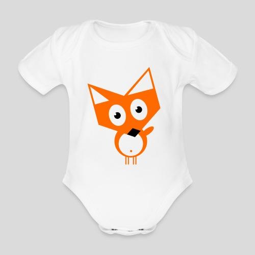 Der neugierige Fuchs - Baby Bio-Kurzarm-Body