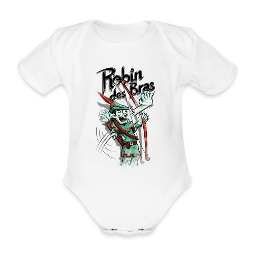Robin des Bras - Organic Short-sleeved Baby Bodysuit
