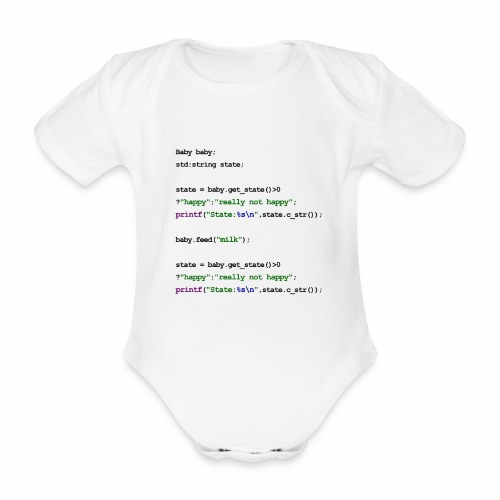 C++ Baby - Organic Short-sleeved Baby Bodysuit
