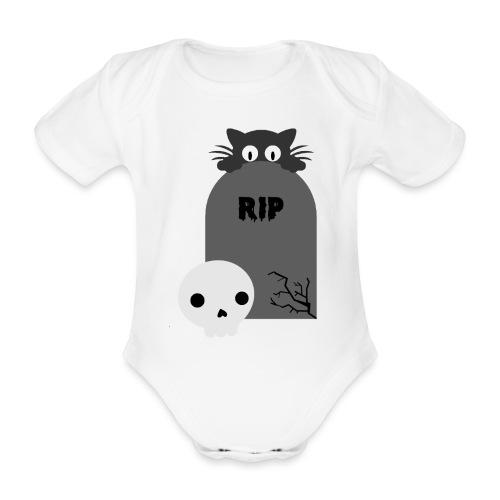 Dark But Cute - Organic Short-sleeved Baby Bodysuit
