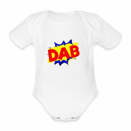 Dab fumetto logo - Body ecologico per neonato a manica corta