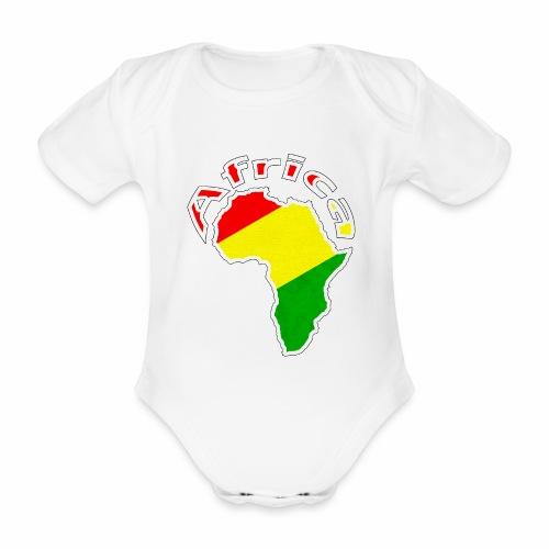 Afrika - rot gold grün - Baby Bio-Kurzarm-Body