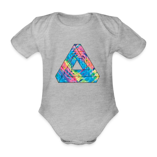 illusion - Organic Short-sleeved Baby Bodysuit