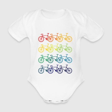 coloré vélos - Body bébé bio manches courtes